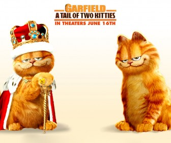 A Tail Of Two Kitties Poster Wallpaper