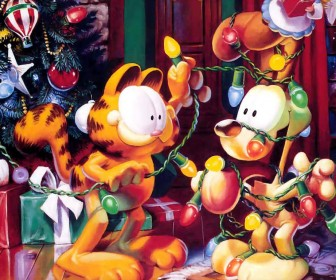 Garfield And Odie Christmas Wallpaper