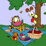 Garfield And Odie Picnic Wallpaper