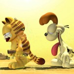 Garfield And Odie Sweating In Desert Wallpaper
