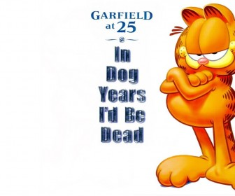 Garfield At 25 Portrait Wallpaper