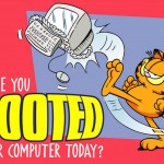 Garfield Boot Your Computer Slogan Wallpaper