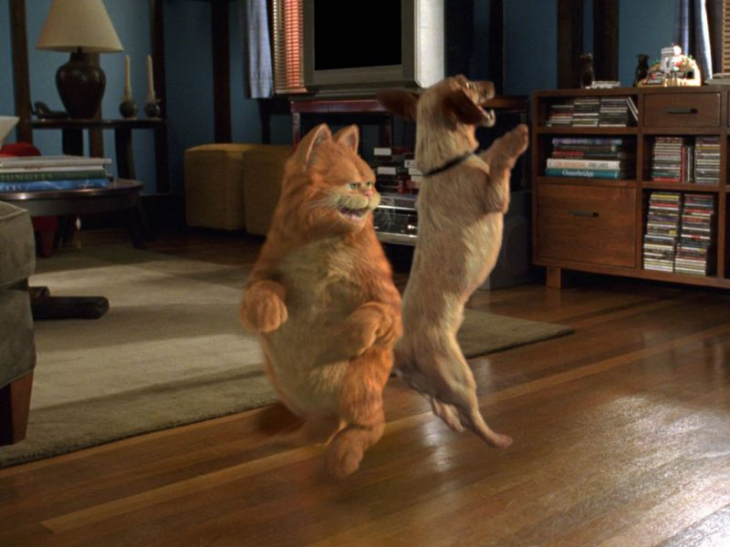 Garfield Dancing With Dog Wallpaper 800x600