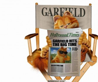 Garfield Directors Chair Wallpaper