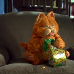 Garfield Eating Snack Wallpaper