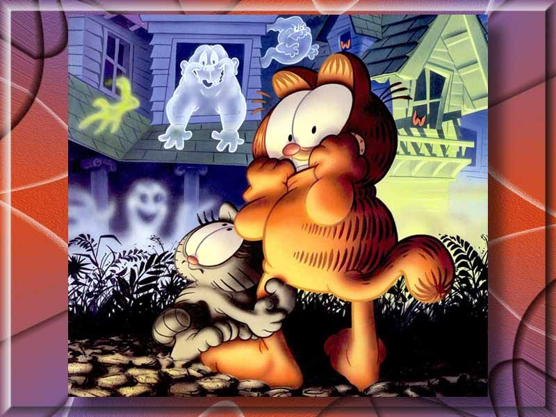 Garfield Haunted House Wallpaper 800x600