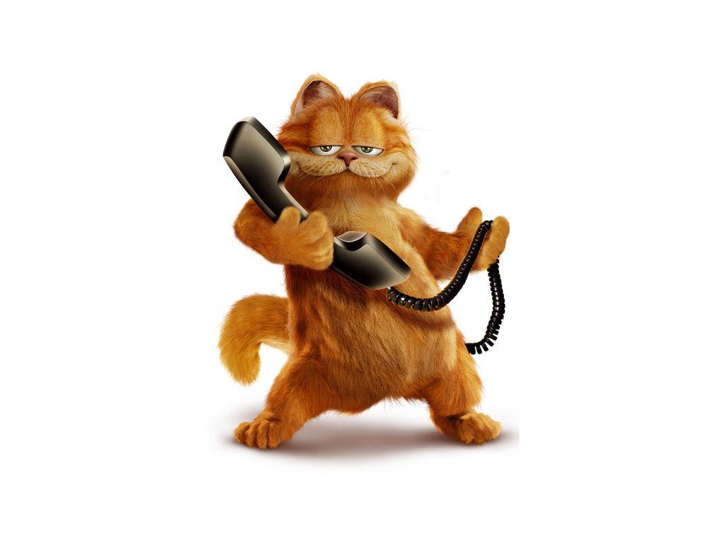 Garfield Holding Telephone Wallpaper 1024x768