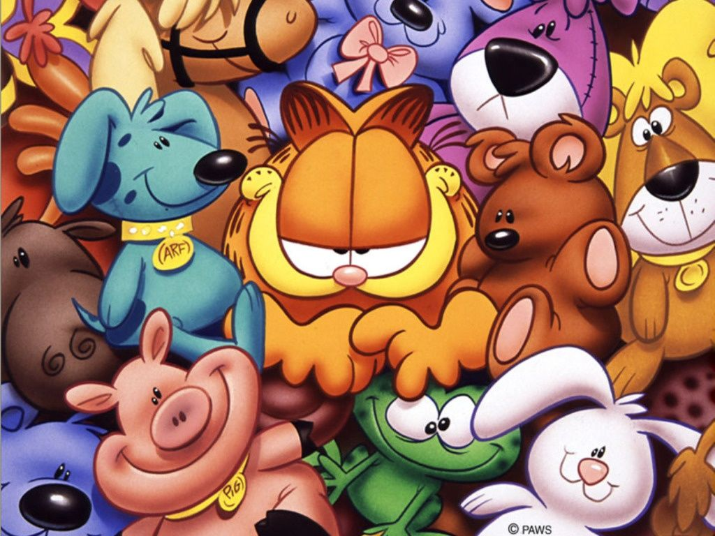 Garfield In The Middle Wallpaper 1024x768
