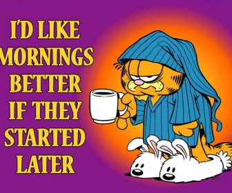 Garfield Mornings Slogan Wallpaper