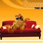 Garfield On Couch Movie Poster Wallpaper