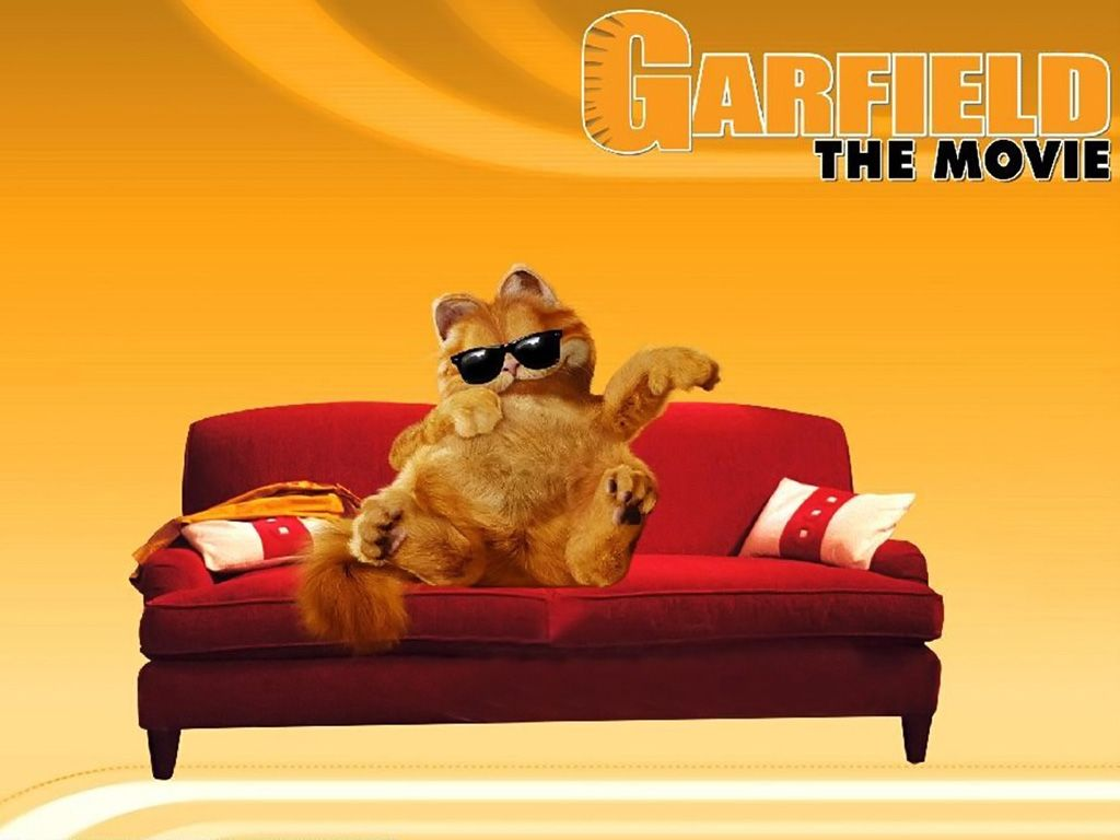 Garfield On Couch Movie Poster Wallpaper 1024x768