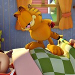 Garfield On Op Of Sleeping Jon Wallpaper