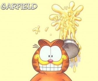Garfield Pie On Wall Wallpaper