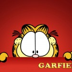 Garfield Red Background Wallpaper