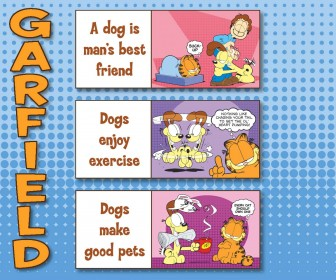 Garfield Slogans On Dogs Wallpaper