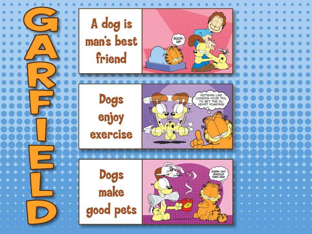 Garfield Slogans On Dogs Wallpaper 1024x768
