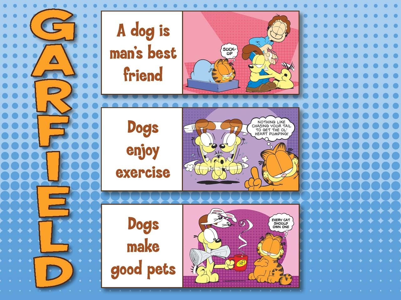 Garfield Slogans On Dogs Wallpaper 1280x960