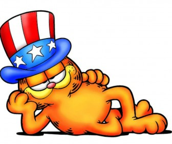 Garfield Stars And Stripes Hat Wallpaper