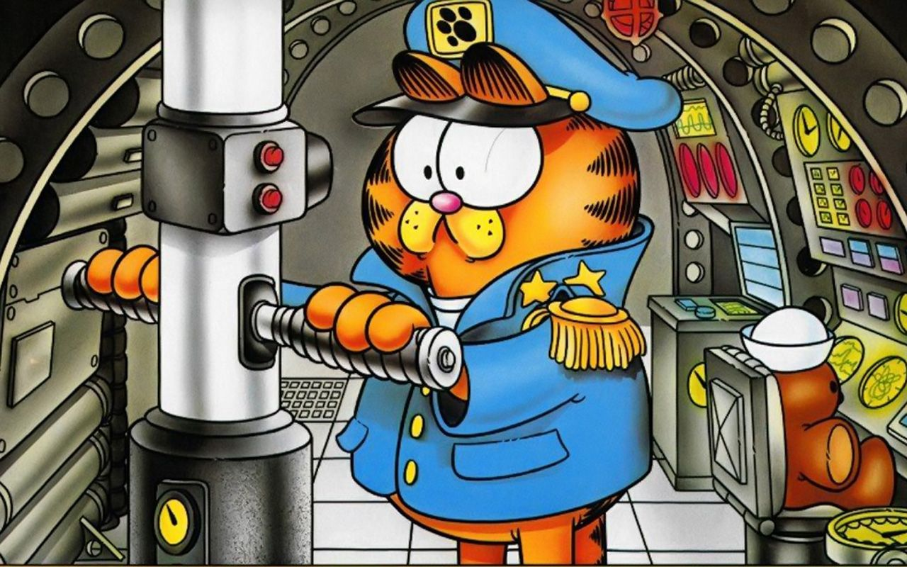 Garfield Submarine Captain Wallpaper 1280x800