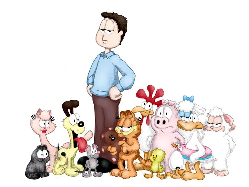 Garfield With Complete Cast Wallpaper 800x600