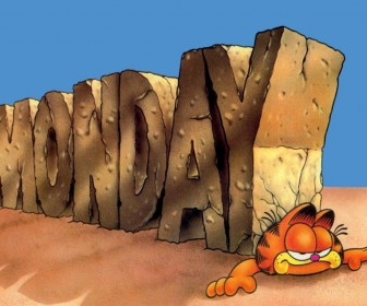 Garfield With Giant Monday Wallpaper