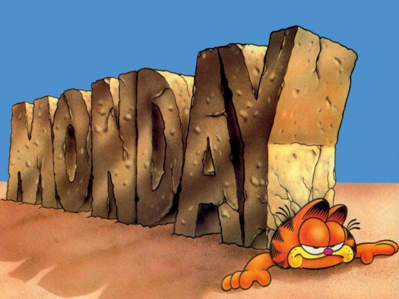 Garfield With Giant Monday Wallpaper 800x600