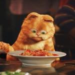 Garfield With Lasagna Plate Wallpaper