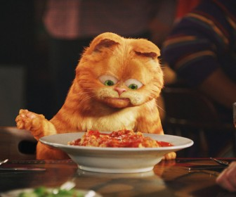 Garfield With Lasagna Plate Wallpaper