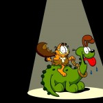 Garfield With Prehistoric Odie Wallpaper