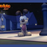 Odie Beside Light Post Wallpaper
